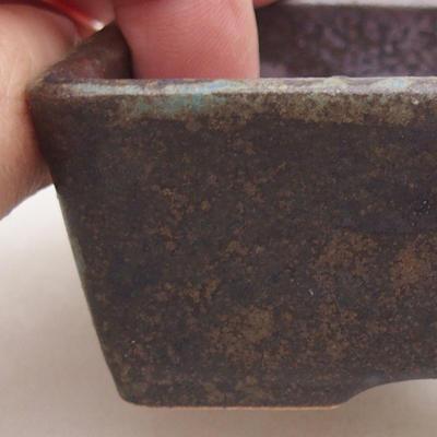 Ceramic bonsai bowl 9 x 7 x 4 cm, gray color - 2