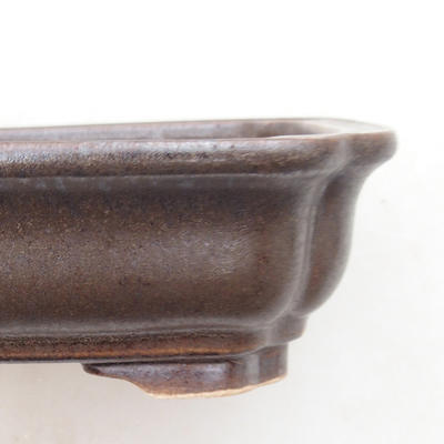 Ceramic bonsai bowl 14 x 11 x 4 cm, color brown - 2