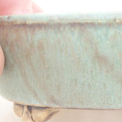 Ceramic bonsai bowl 12 x 9.5 x 3.5 cm, color green - 2