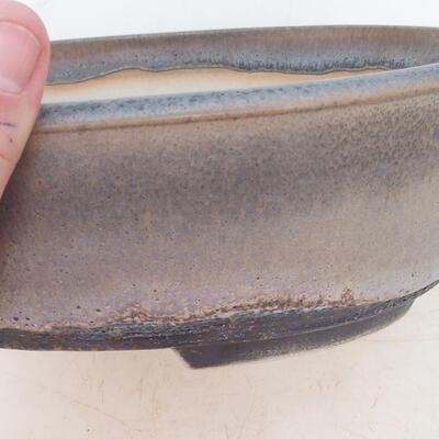 Bonsai bowl 22 x 17 x 7 cm, color gray - 2