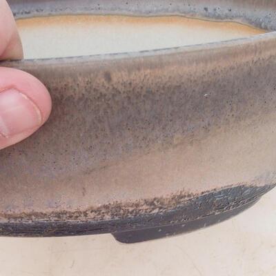 Bonsai bowl 22 x 16.5 x 6 cm, gray-beige color - 2