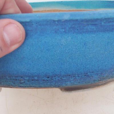Bonsai bowl 22 x 17 x 7 cm, color blue - 2