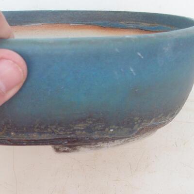 Bonsai bowl 20 x 15.5 x 6 cm, color blue - 2