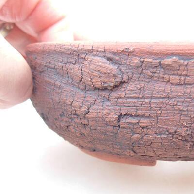 Ceramic bonsai bowl 15 x 15 x 4.5 cm, color cracked - 2