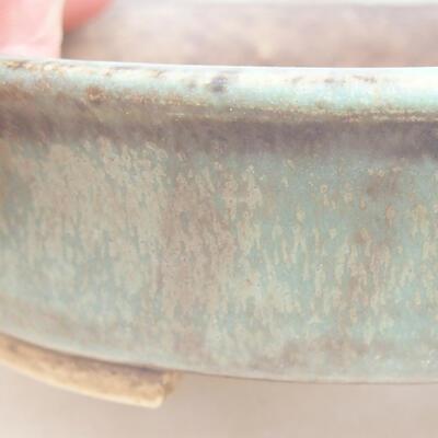 Ceramic bonsai bowl 12 x 11 x 3 cm, color green - 2