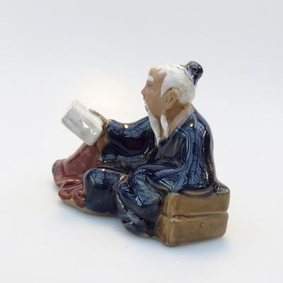 Ceramic figurine - Reader - 2