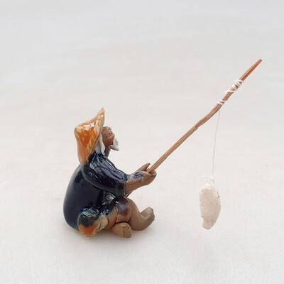 Ceramic figurine - Fisherman F4 - 2