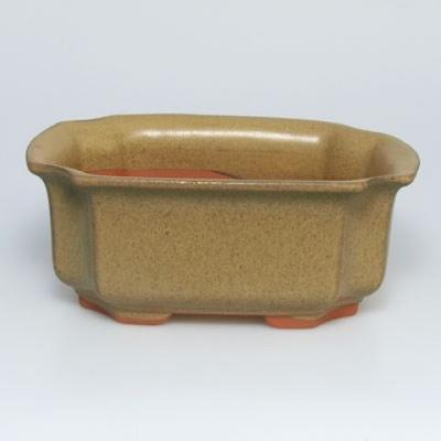 Bonsai ceramic bowl H01, beige - 2