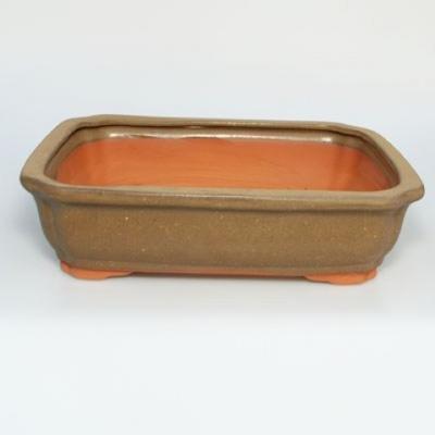 Ceramic bonsai bowl H 20 - 26,5 x 21 x 7,5 cm - 2