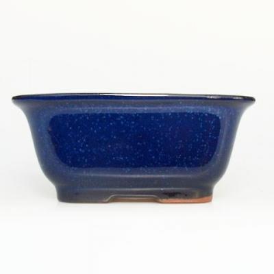 Bonsai bowl + tray H37 - bowl 14 x 12 x 7 cm, tray 14 x 13 x 1 cm - 2
