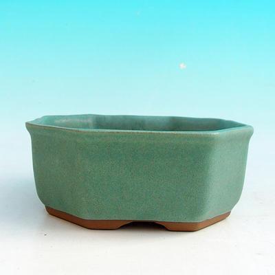 Ceramic bonsai bowl H 13 - 11,5 x 11,5 x 4,5 cm - 2
