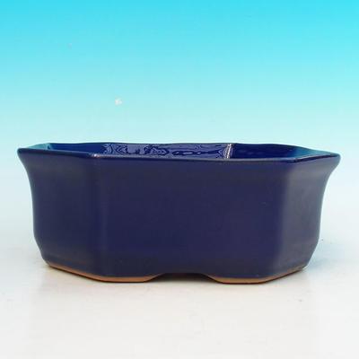 Ceramic bonsai bowl H 14 - 17,5 x 17,5 x 6,5 cm - 2