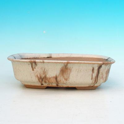 Ceramic bonsai bowl H 02 - 19 x 13,5 x 5 cm - 2