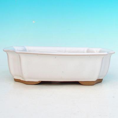 Bonsai ceramic bowl H 03, white - 2