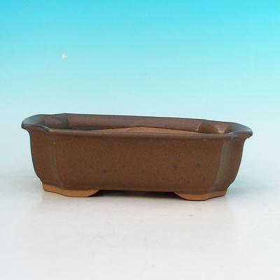 Ceramic bonsai bowl H 03 - 16,5 x 11,5 x 5 cm, brown - 16.5 x 11.5 x 5 cm - 2
