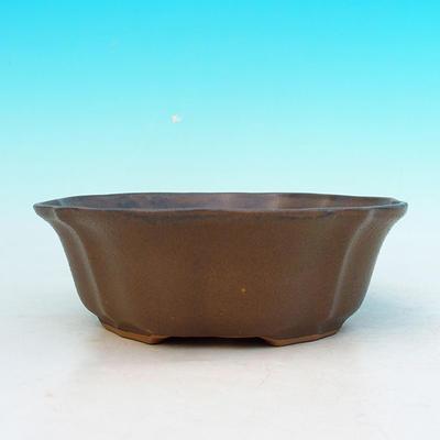 Bonsai ceramic bowl H 06, Brown - 2
