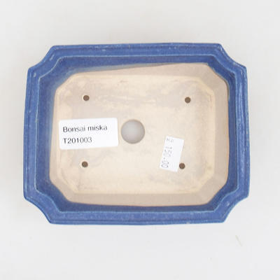 Ceramic bonsai bowl 13 x 10.5 x 4 cm, color blue - 3