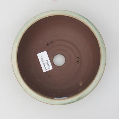 Ceramic bonsai bowl 16 x 16 x 5,5 cm, color green - 3