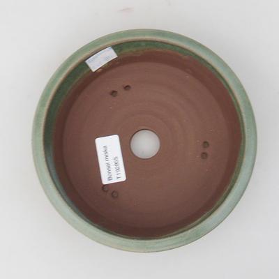 Ceramic bonsai bowl 16 x 16 x 5 cm, color green - 3
