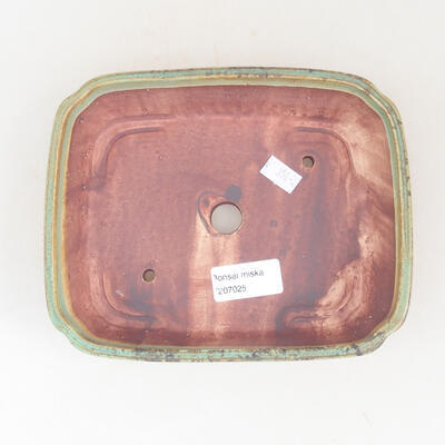 Ceramic bonsai bowl 17.5 x 14.5 x 5 cm, color green - 3
