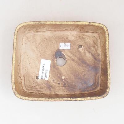 Ceramic bonsai bowl 17 x 14 x 4.5 cm, color yellow - 3