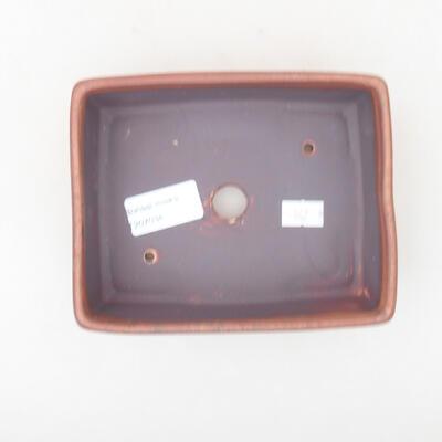 Ceramic bonsai bowl 14.5 x 11.5 x 4.5 cm, brown color - 3