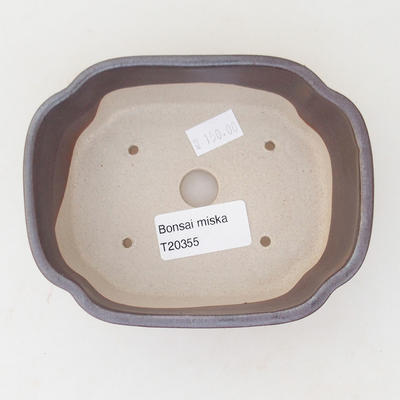Ceramic bonsai bowl 12.5 x 10 x 4.5 cm, color brown - 3