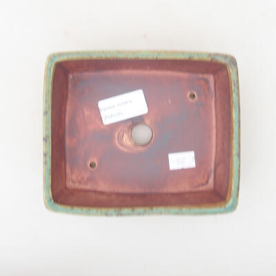 Ceramic bonsai bowl 14.5 x 11.5 x 4.5 cm, color green - 3