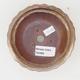 Ceramic bonsai bowl 11,5 x 11,5 x 4,5 cm, brown-beige color - 3/4