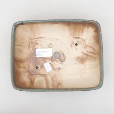 Ceramic bonsai bowl 20 x 15.5 x 5 cm, color brown-green - 3