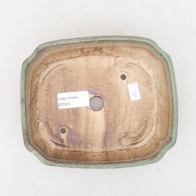 Ceramic bonsai bowl 16.5 x 14 x 5.5 cm, color green - 3