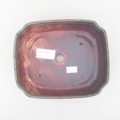 Ceramic bonsai bowl 16.5 x 14 x 5.5 cm, gray color - 3