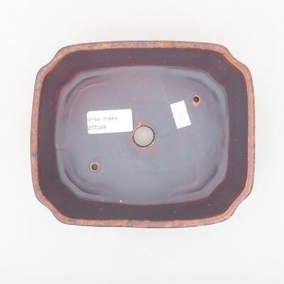 Ceramic bonsai bowl 16.5 x 14 x 5.5 cm, brown color - 3