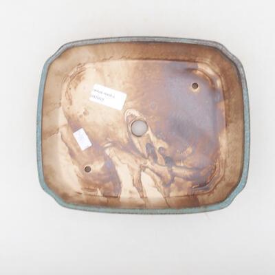 Ceramic bonsai bowl 21 x 17.5 x 5.5 cm, color blue-brown - 3