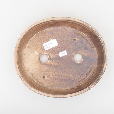 Ceramic bonsai bowl 22.5 x 20 x 5 cm, brown color - 3