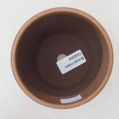 Ceramic bonsai bowl 10 x 10 x 9.5 cm, color brown - 3