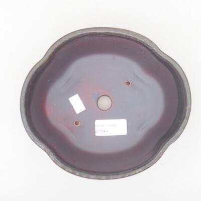 Ceramic bonsai bowl 18 x 16 x 6 cm, color brown - 3