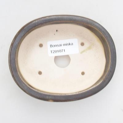 Ceramic bonsai bowl 11.5 x 9.5 x 3 cm, color green - 3