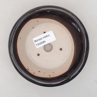 Ceramic bonsai bowl 12.5 x 12.5 x 4 cm, color blue - 3