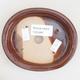 Ceramic bonsai bowl 12 x 10 x 2.5 cm, brown color - 3/4