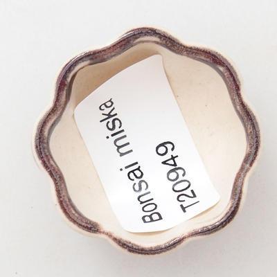 Mini bonsai bowl 3.5 x 3.5 x 2 cm, color red - 3