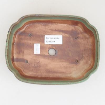 Ceramic bonsai bowl 17.5 x 13 x 4.5 cm, color green - 3