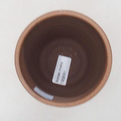 Ceramic bonsai bowl 10 x 10 x 9.5 cm, color brown - 3