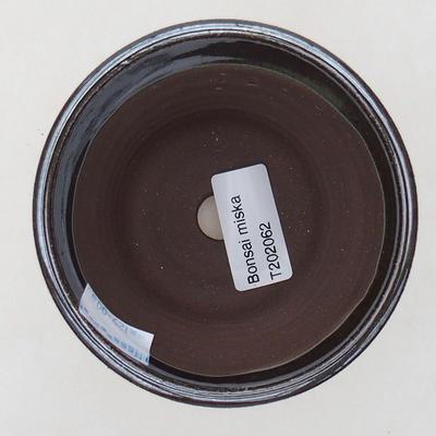 Ceramic bonsai bowl 9 x 9 x 9 cm, color brown - 3