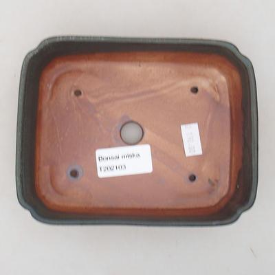 Ceramic bonsai bowl 15 x 11.5 x 4 cm, gray color - 3