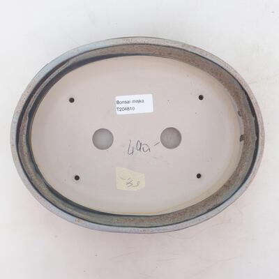 Bonsai bowl 23.5 x 18.5 x 6 cm, gray-beige color - 3