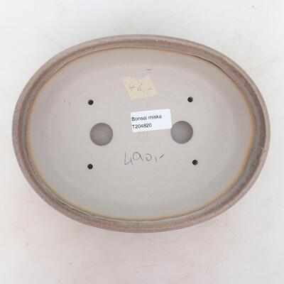 Bonsai bowl 22 x 17 x 6 cm, gray-beige color - 3