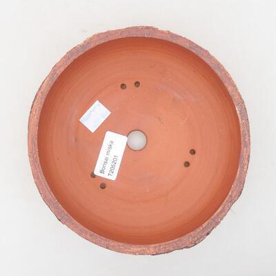 Ceramic bonsai bowl 16 x 16 x 6 cm, color cracked - 3