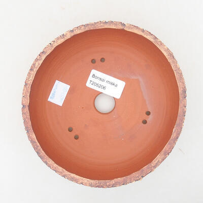 Ceramic bonsai bowl 14.5 x 14.5 x 5.5 cm, cracked color - 3