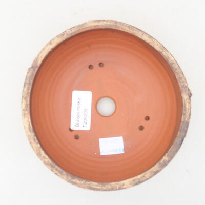 Ceramic bonsai bowl 13.5 x 13.5 x 5.5 cm, color cracked - 3